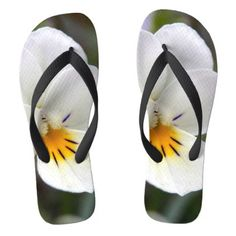 #Wild Pansy Flip Flops - #womens #shoes #womensshoes #custom #cool