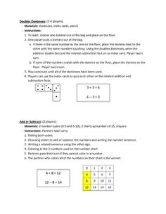 This is a PDF file with five different math centers focused around the second grade curriculum. The centers allow students to practice adding and s...