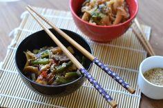 Petiscana: Noodles de arroz de inspiração asiática [Rice noodles asian inspired]