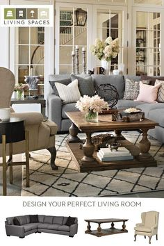 An oversized sectional sofa, paired with the right cocktail table, accent chairs, and accessories, creates the perfect setting for a warm and inviting living room. Find the best furniture and decor for your home at Living Spaces.: