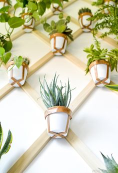 She DID A wonderful (& easy to follow TUTORIAL!!!!  Indoor Plant Trellis Wall-18