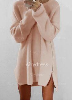 Dress - $13.99 - Cotton Solid Long Sleeve Shift Dress (1955144663)