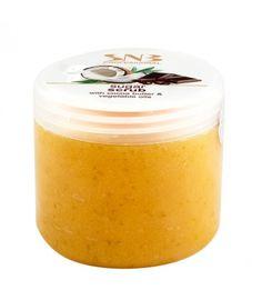 SNB Scrub cu zahar, unt de cacao si uleiuri vegetale pentru picioare si corp face parte din categoria manichiura si pedichiura. Unt