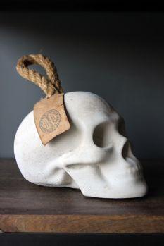 Concrete Skull Door Stop