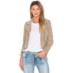 BLANKNYC Suede Moto Jacket ($200) ❤ liked on Polyvore featuring outerwear, jackets, coats & jackets, beige biker jacket, blanknyc jacket, biker jackets, rider jacket and beige jacket