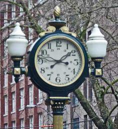 pioneer square - Google Search Alarm Clock, Clocks, Seattle, Lighting, Google Search, Antiques, Image, Projection Alarm Clock, Lights