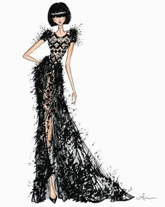 tulle and ostrich feathers. Ralph & Russo Couture SS17 by @anumt| anumt.etsy.com| Be Inspirational ❥|Mz. Manerz: Being well dressed is a beautiful form of confidence, happiness & politeness