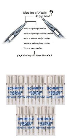 Sewing Machine Needles 41247: New 25 Schmetz Leather Sewing Machine Needles 130 705H Ll 15X2ntw Size 100 16 -> BUY IT NOW ONLY: $35.22 on eBay!