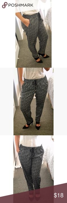 Black & White Jogger Pants Black & White Jogger Pants by Express, size Small. Pre-loved but VERY gently used. Express Pants Track Pants & Joggers