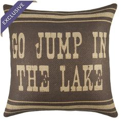 Handmade burlap pillow with a text motif. Made in the USA.  Product: PillowConstruction Material: Burlap cover