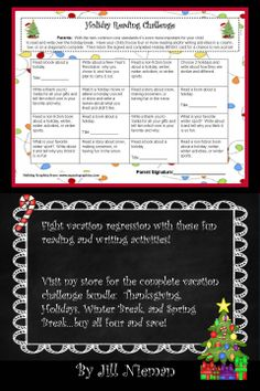 Fight Vacation Regression with this fun Reading and Writing Challenge!  K-5