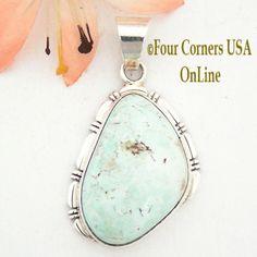 Four Corners USA Online - Dry Creek Turquoise Pendant Navajo Silver Jewelry Artisan Robert Concho NAP-1489, $167.00 (http://stores.fourcornersusaonline.com/dry-creek-turquoise-pendant-navajo-silver-jewelry-artisan-robert-concho-nap-1489/)