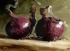 Onions ~ Nature Morte Painting by Nigel Fletcher