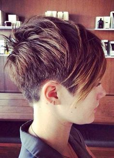 Shaved Short Layered Pixie Cut                                                                                                                                                                                 More