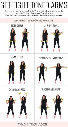 Arm workout for women & Best Arm Exercises for women that want tight toned arms. This arm workout routine was made with some of the& The post Arm Workout for Women that Want Tight Toned Arms appeared first on Griffith Diet and Fitness. Musa Fitness, Body Fitness, Physical Fitness, Workout Fitness, Fat Workout, Fitness Watch, Plus Size Workout, Workout Men, Workout Ideas