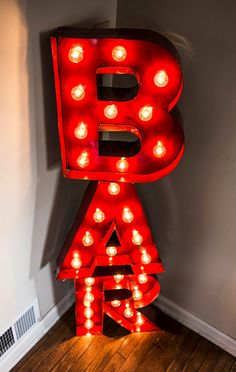 Vintage Marquee Letters BAR Sign by VintageLightCompany on Etsy, $375.00
