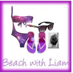 """Beach with Liam"" by jalenastylesforever on Polyvore"