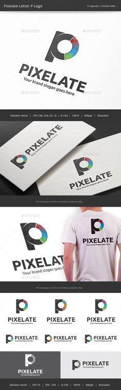 Pixelte Letter P Logo