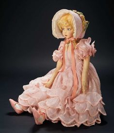 """Love, Shirley Temple, Collector's Book: 7 Shirley Temple's Legendary Italian Felt Salon Doll Known as """"Pinkie"""" by Lenci"""