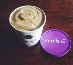 Try out our delicious Irish Salted Caramel Nobó! Dairy Free Ice Cream, Caramel, Irish, Frozen, Photo And Video, Tableware, Sticky Toffee, Candy, Dinnerware