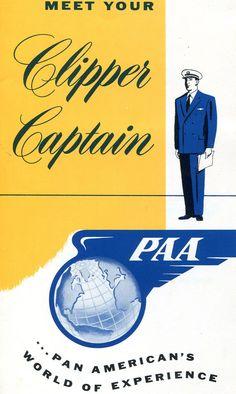 "Pan American World Airways ""Meet Your Captain"" Inflight Guide (1950s)"