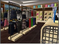Casas The Sims 3, Sims Life Stories, Pelo Sims, Sims 4 Clutter, Cc Fashion, Sims4 Clothes, Sims 4 Dresses, Lash Room, Shopping