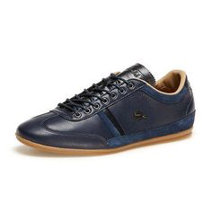 Lacoste Misano 36 Mens 7-30SRM0015-003 Navy Blue Leather Shoes Sneakers Size 11