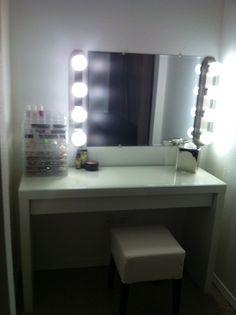 Diy Led Bathroom Lighting diy makeup mirror with christmas lights silver mirror c7 bulbs
