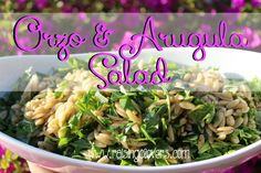 Orzo & Arugula Salad by Raising Clovers - This is the best orzo salad ever! You are going to love it! This is the recipe that I get the most requests for after I make it for people. I promise you'll love it!  http://www.raisingclovers.com/2015/03/28/orzo-and-arugula-salad/