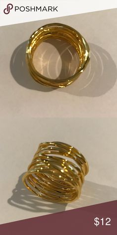 Gold tone Ring Layered Gold tone Ring Dillards Jewelry Rings