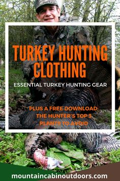 Expert advice on what turkey hunting clothing items you need to have a successful and comfortable hunt. Get a free hunter's guide to dangerous plants. Wild Boar Hunting, Bear Hunting, Hunting Tips, Turkey Hunting Gear, Backpacking, Camping, Traditional Archery, Hunting Clothes, Fly Fishing