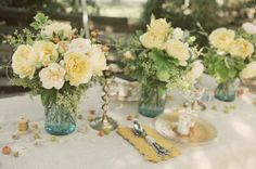 Mason Jar Flower Arrangements Weddings | mason jar floral arrangements | Wedding Inspiration