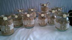 Shabby-Chic-Vintage-Wedding-Hand-Decorated-Glass-Jars-Tea-Lights-Etc