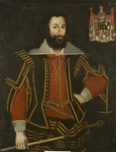 Sir Robert Poyntz, c. 1615. Possibly Sir Robert Poyntz of Iron Acton Glouscestershire, knighted at King Charles I's coronation. Descendant of Anthony Woodville, Earl Rivers. Descendant of the Sydenham family.