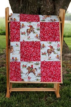 A personal favorite from my Etsy shop https://www.etsy.com/listing/291505921/western-country-cowboy-quilt