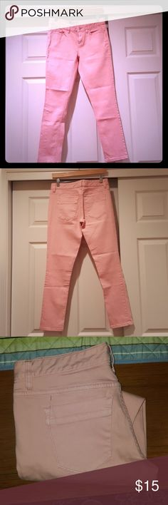 🔴 Red Dot Sale Mossimo Skinny Jeans Size 6 Peach/pink color skinny denim jeans Mossimo Supply Co Jeans Skinny