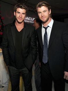 Can't have a list of hot celebrity brothers without Chris and Liam Hemsworth!