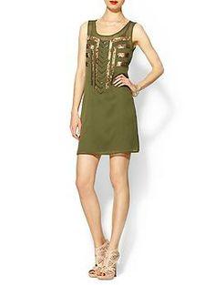 Cute end-of-summer dress?    Sabine Geo Beaded Mini | Piperlime  $99