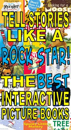 Tell Stories Like a Rock Star–The BEST Interactive Picture Books – The Lego Librarian Preschool Library, Kindergarten Books, Elementary Library, Library Activities, Preschool Books, Library Games, Preschool Themes, Stem Activities, Interactive Books For Kids
