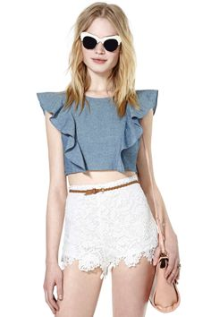 You Frill Me Crop Top | Shop Work Your Angles at Nasty Gal