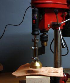 Holder heating branding iron to the bench drills by vonHanke