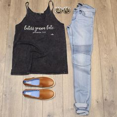 Open 9-6 today come see all the new goodies.  Shop these items online under shopable posts. www.shopelysian.com! Crashback Leather Keds in CHESTNUT $66. online  in-store. Lightly Motto Skinny Jean $82. @shopwritten Haters Gonna Hate Tank $34. online  in store  #fashion #style #ootd #elysianlove #flatlay #summer #wiwt #keds #kedsstyle http://ift.tt/1sKc9MC Open 9-6 today come see all the new goodies.  Shop these items online under shopable posts. www.shopelysian.com! Crashback Leather Keds in…