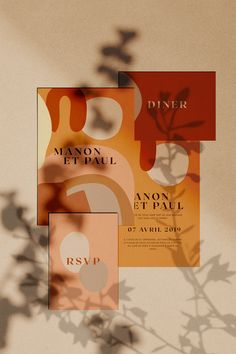 This new season trend for the wedding invitation is definitely colorful and more modern. For few years new Lise Mailman contemporary style has been a reference ins the wedding industry wedding invitations Modern & Abstract wedding invites