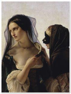 Italy. Il consiglio alla vendetta (Vengeance), 1851 (Detail ) //  painting by Francesco Hayez