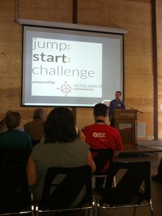Beginning of the day at the Accelerate Okanagan Jump:Start:Challenge Conference Board, Challenges, Day