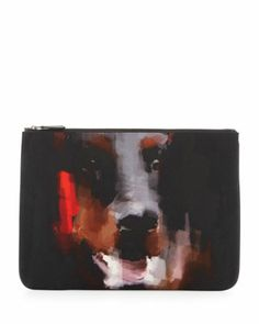 Men\'s Doberman Canvas Zip Pouch, Black  by Givenchy at Bergdorf Goodman.