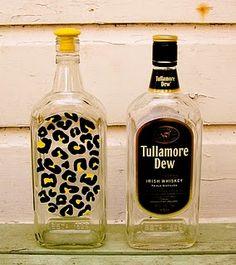 jazzed up liquor bottle