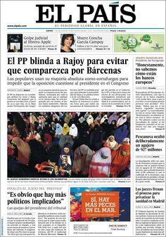 Los Titulares y Portadas de Noticias Destacadas Españolas del 11 de Julio de 2013 del Diario El País ¿Que le parecio esta Portada de este Diario Español?