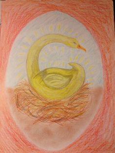 Waldorf ~ grade ~ Letter: G ~ Golden Goose Number Drawing, Form Drawing, Waldorf Curriculum, Waldorf Education, Chalkboard Drawings, Chalk Drawings, Grade 1 English, Homeschool Kindergarten, Preschool
