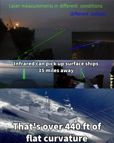 Lasers prove earth is missing curvature and flat.